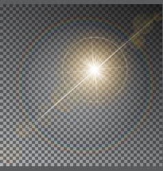 transparent sun light with bokeh isolated o vector image