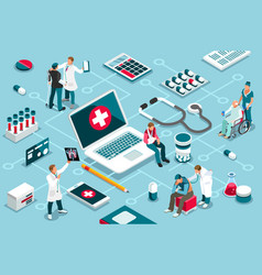 treatment and clinic assistance vector image