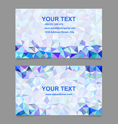 Triangle mosaic business card template design vector