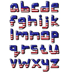 usa small alphabet vector image