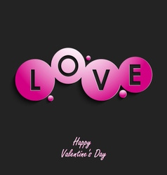 Valentine abstract card with inscription Love vector