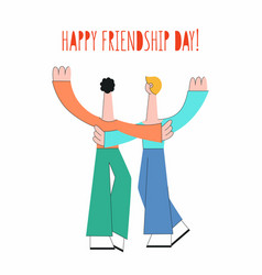 vecot happy friendship day concept male characters vector image
