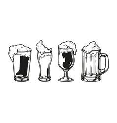 vintage brewing monochrome composition vector image
