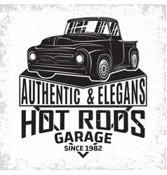 vintage cars garage emblem vector image