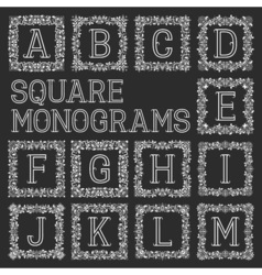 Vintage monograms set Letters from A to M in vector image