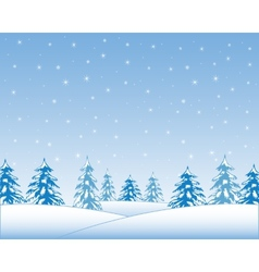 Winter wood vector image