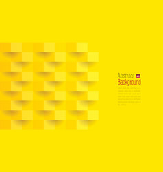 yellow abstract background 3d paper art style vector image