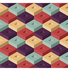 Color cubes pattern vector image vector image