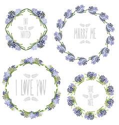 floral frames set vector image vector image