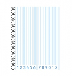 notebook barcode vector image vector image