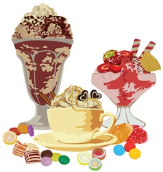 Still Life with Sweets vector image