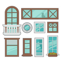windows collection of various types vector image