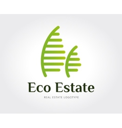 Abstract eco estate logo template for vector image