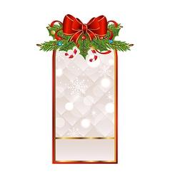 Christmas holiday greeting card vector image vector image