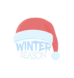 christmas speech bubble with santa claus hat vector image vector image