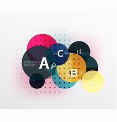 circle banner vector image vector image