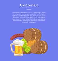 oktoberfest or octoberfest poster vector image