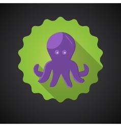 Summer Travel Sea Octopus Squid flat icon vector image