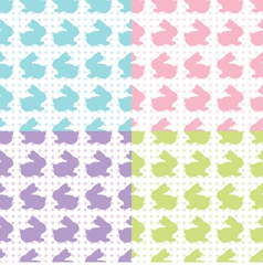 Bunnies Silhouettes vector image vector image