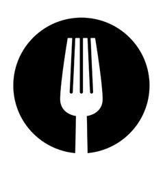 contour fork icon image design vector image