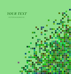 Green digital art background template design vector image vector image