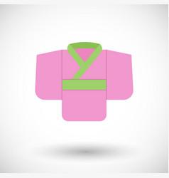 kimono flat icon vector image vector image