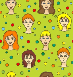 Pattern with children vector image