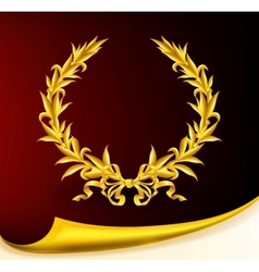 Rich golden wreath vector image vector image