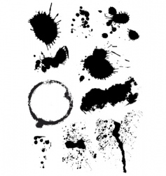 set of ink blots vector image vector image