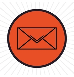 Email inline icon graphic vector image vector image