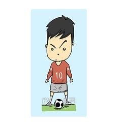 man play football vector image