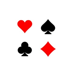 Playing card suits signs set Four card symbols vector image vector image