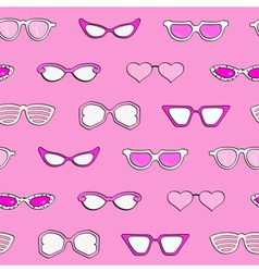Seamless pattern women fashion sunglasses vector image