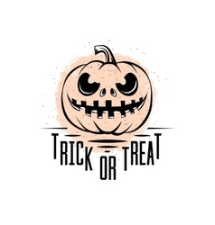 trick or treat sign vector image
