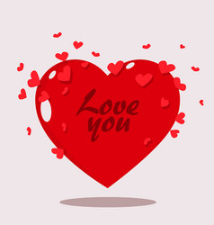 valentine day heart clean clipart vector image vector image