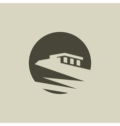 Abstract bird acropolis sign vector