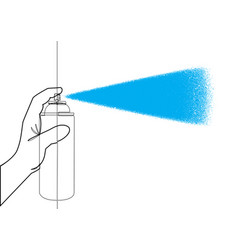 aerosol can single line graphic vector image