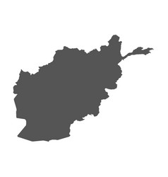 Afghanistan map black icon on white background vector