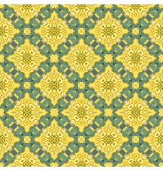 Blue and yellow pattern vector