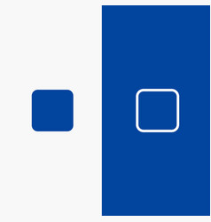 Box checkbox unchecked line and glyph solid icon vector