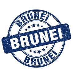 Brunei blue grunge round vintage rubber stamp vector