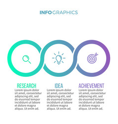 business infographics timeline with with 3 vector image