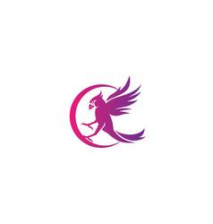 c bird logo simple design vector image