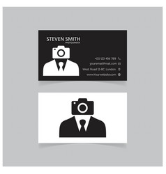 camera man logo minimal corporate business card vector image
