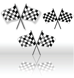 Checkered flags crossed vector