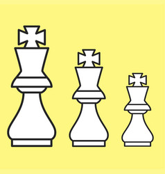 Chess figure king on a yellow background vector