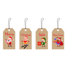 christmas tags for sale vector image