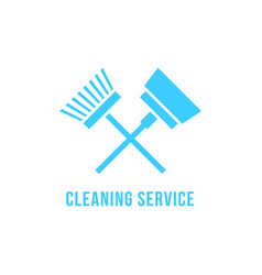 Cleaning service icon with vacuum cleaner and vector