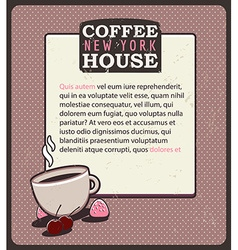Coffee house template vector