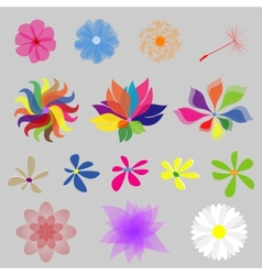 Collection Mod Style Flowers vector